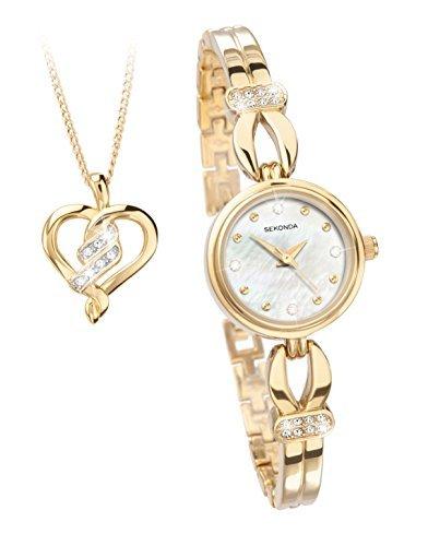 Sekonda White Dial Gold Plated Bracelet Ladies