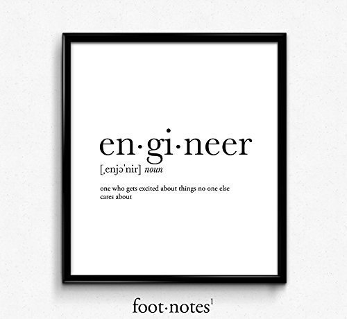 Engineer definition, dictionary art print, funny poster, poster (Engineer Wall Art compare prices)