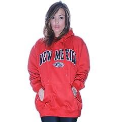 New Mexico Lobos Hoodie Ladies Pink Pullover NCAA Sweater College Hoody (44B) by J. America