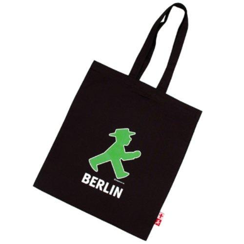 Ampelmann 108106255 - Stoffbeutel - Schwarzhändler mit Geher Berlin/ Steher Berlin, schwarz