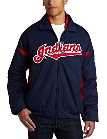 MLB Cleveland Indians Long Sleeve Lightweight Full Zip Thermabase Premier Jacket,... by Majestic