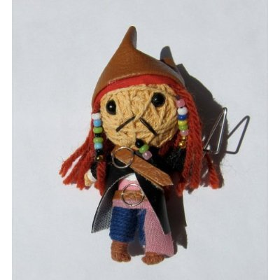 Jack Sparrow Voodoo String Doll Keychain