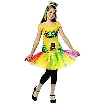 Girls Crayola Crayon Box Dress Halloween Costume Childrens Costumes Clothing