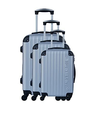 BLUESTAR Set de 3 trolleys rígidos BD-12709 Plateado