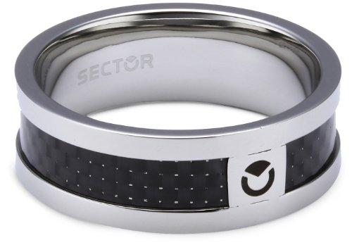 Sector SLI73025 - Anello da uomo, acciaio inossidabile, 17.5