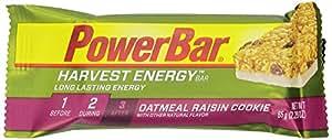 PowerBar Harvest Energy Bars, Oatmeal Raisin Cookie, 2.29-Ounce Bars (Pack of 15)