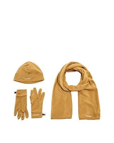 Craghoppers Set Cappellino, Sciarpa e Guanti Fleece [Beige]