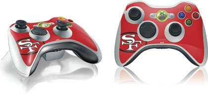 NFL – San Francisco 49ers – San Francisco 49ers Retro Logo – Skin for 1 Microsoft Xbox 360 Wireless Controller