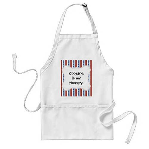 Sunningq Patriotic Red White Blue Stars And Stripes Freedom Adult Apron