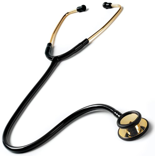 Cheap Prestige Medical Gold Edition Clinal I Stethoscope, Black with 22 Karat Gold Plating (126-G)