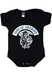 Sons of Anarchy Reaper Logo Baby Creeper Romper - Black