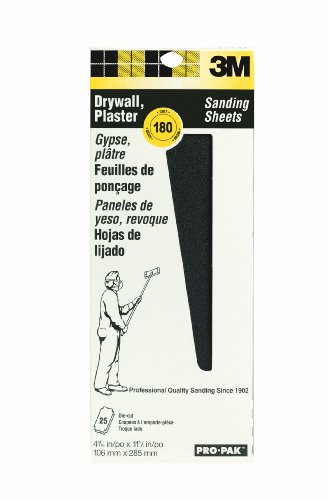3M 99439NA Pro-Pak Drywall Sanding Screens 180-Grit, 4-3/16 by 11-1/4-Inch, 10-Pack