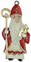 St. Nicholas German Pewter Christmas Ornament by Kuehn