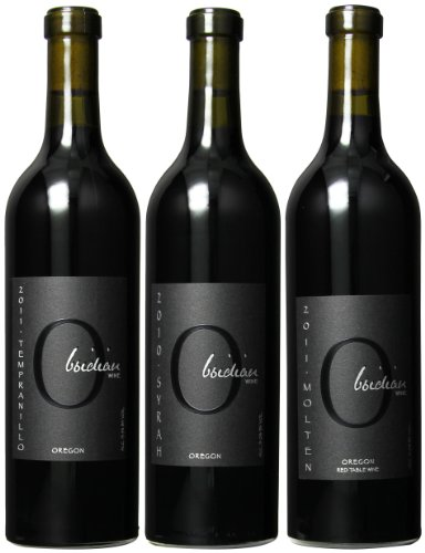 Obsidian Wines Best Of Oregon Red'S Mixed Pack, 3 X 750 Ml