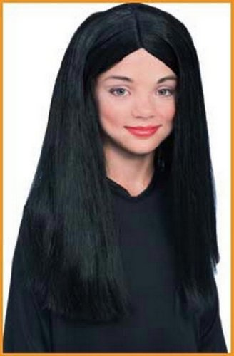 Morticia Addams Halloween Wigs Childs Wig