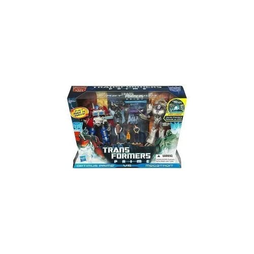 Transformers Prime First Edition Action Figure Set - Optimus Prime vs Megatron with DVD - Entertainment Pack Limited Edition by Hasbro (English Manual)