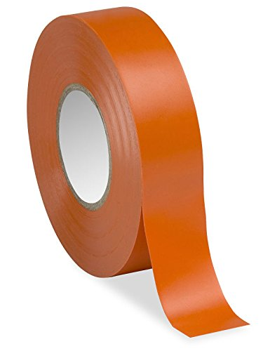 "3/4"" X 20 Yards Orange Electrical Tape - 10 Rolls"