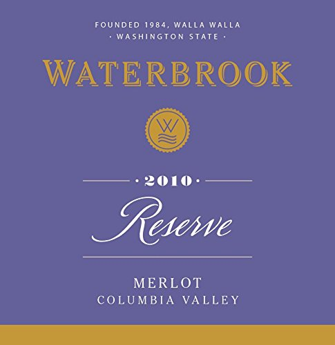2010 Waterbrook Reserve Merlot, Limited Edition Husky Spirit Label, Columbia Valley 750 Ml