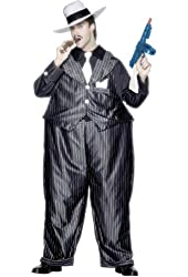 Fat Cat Gangster Hooped Costume Adult One Size Fits Most