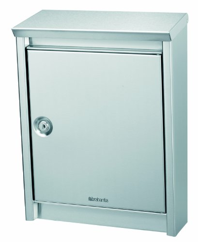 Brabantia B110 Postbox, Matt Steel