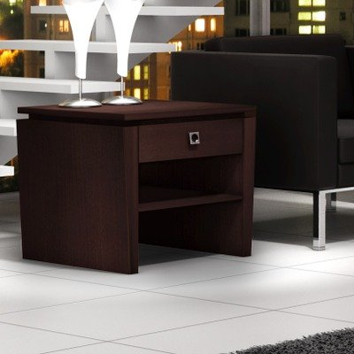 Cheap Furnitech Classic Modern end table with tapered legs and floating top, Available in Wenge (FT26TLW)