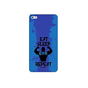 Micromax silver 5 nkt06 (21) Mobile Case by Mott2 - Gym Lover- Eat Sleep and Gym (Limited Time Offers,Please Check the Details Below)