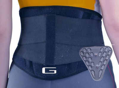 NEO-G Medical Grade Back support with removable massage insert and power straps for unbeatable compression.