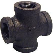 Mueller Industries 521-003Hc 1/2-Inch Black Cross Pipe Tees