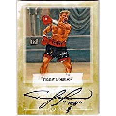 Buy Tommy Morrison 2011 Ringside Boxing 2 Mecca AUTOGRAPH GOLD  10 - Autographed Boxing Equipment by Sports Memorabilia