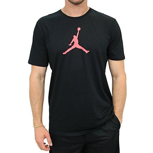 Nike Mens Jordan Dri-Fit T-Shirt Black/Infrared 23 801051-010 Size Large