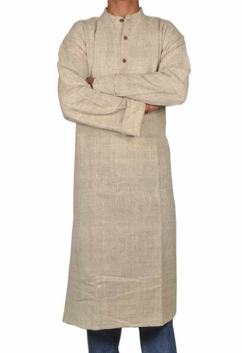 Designed Mens Casual Cotton Long Kurta Fabric For Winter & Summers Size-3XL