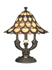 Dale Tiffany TA70112 Peacock Table Lamp, Antique Bronze