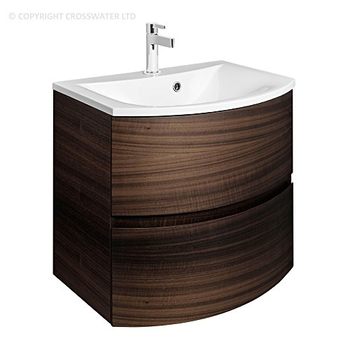 Simple Bauhaus Svelte mm Wall Mounted Bathroom Vanity Unit Storage Cabinet Cupboard Drawers u Mineral Marble Basin