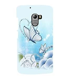 printtech Butterfly Pearls Back Case Cover for Lenovo K4