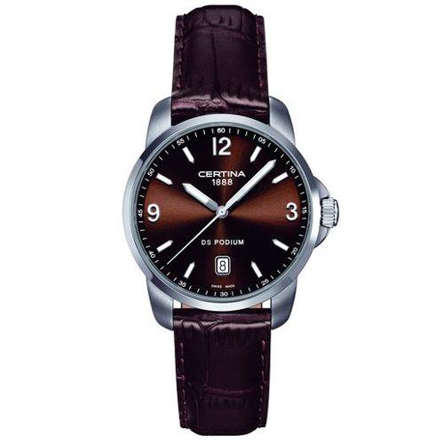 Certina Men's Watch Analogue XL Leather C001,410,16,297,00 Quartz