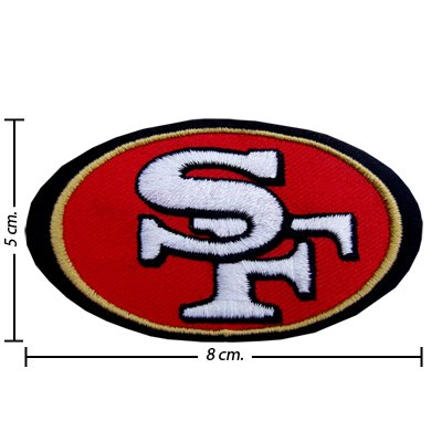 San Francisco 49ers Style-1 Embroidered Iron On Applique at Amazon.com