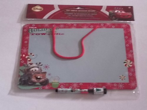 Disney's Cars Christmas Themed Dry Erase Message Board