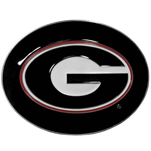 NCAA Georgia Bulldogs Logo Belt Buckle, Black
