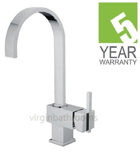 Hudson Square Chrome Kitchen Sink Basin Mono Mixer Tap