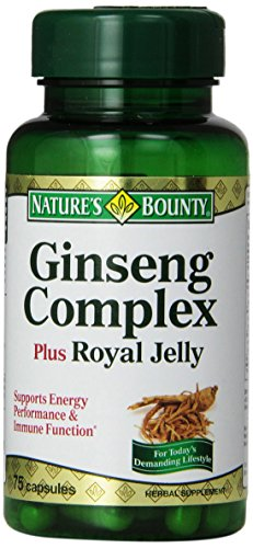Nature'S Bounty Ginseng Complex And Royal Jelly, 75 Capsules