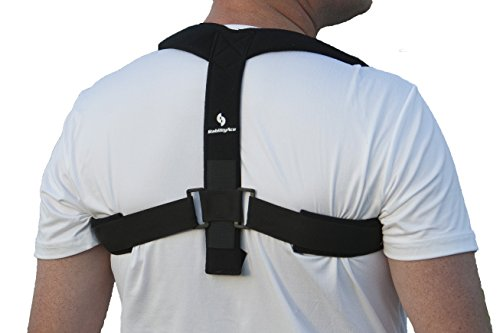 StabilityAce Upper Back Posture Corrector Brace and Clavicle Support for Fractures, Sprains, and Shoulders (XXL)
