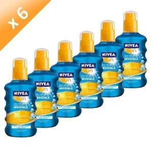 NIVEA Sun Spray Protecteur Invisible FPS30 (x6)