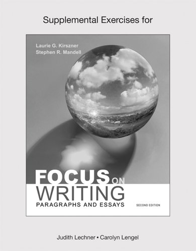 Supplemental Exercises for Focus on Writing