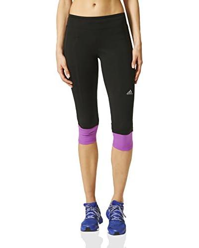 adidas Leggings Rs 3/ 4Tgt Negro / Violeta