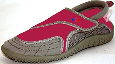 Aquatik Men & Women Aqua Water Shoes - Beach Shoes (Women 10, Fuschia Grey)