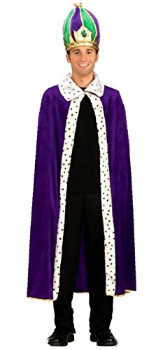 King Robe and Crown Set Costume - Adult Costume