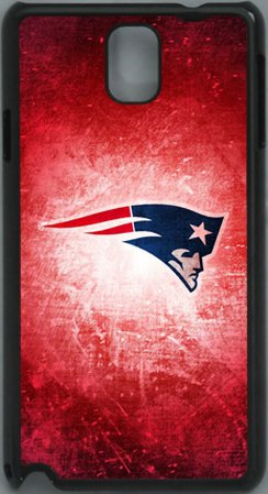#!  NFL New England Patriots with Red PC Hard Shell Black Skin Cover Case for Samsung Galaxy Note 3 N9000 by Qinchao Sports #84