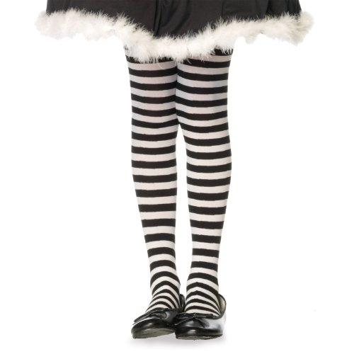 Great Group Halloween Costumes: The Addams Family - Children's Striped Tights Hosiery