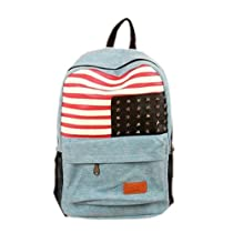 Tobey Cute Stripe Star Clinch Bolt US America Flag Backpack School Sports Laptop Travel Bag