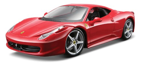Maisto 1:24 Scale Red Assembly Line Ferrari 458 Italia Diecast Model Kit (Ferrari 458 Italia Model compare prices)